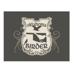Postcard with Oklahoma Birder design
