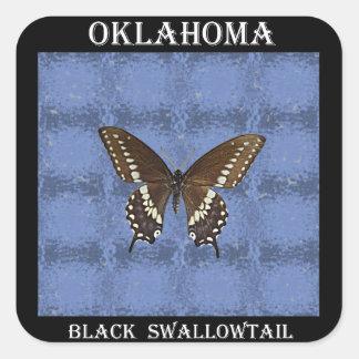 Oklahoma Black Swallowtail Butterfly Stickers