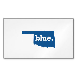 OKLAHOMA BLUE STATE MAGNETIC BUSINESS CARD