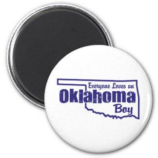 Oklahoma Boy 2 Inch Round Magnet