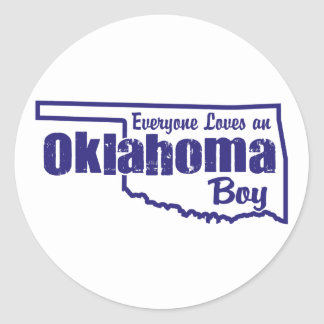 Oklahoma Boy Classic Round Sticker