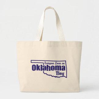Oklahoma Boy Large Tote Bag