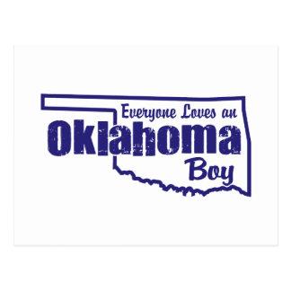 Oklahoma Boy Postcard