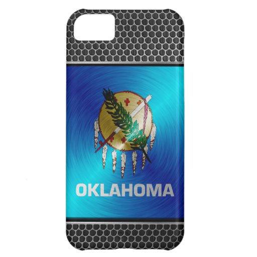 Oklahoma brushed metal flag case for iPhone 5C