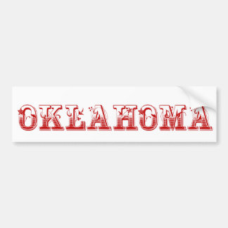 Oklahoma Bumper Sticker