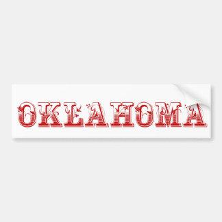 Oklahoma Pegatina De Parachoque