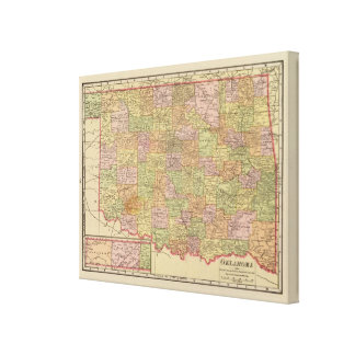 Oklahoma Stretched Canvas Prints