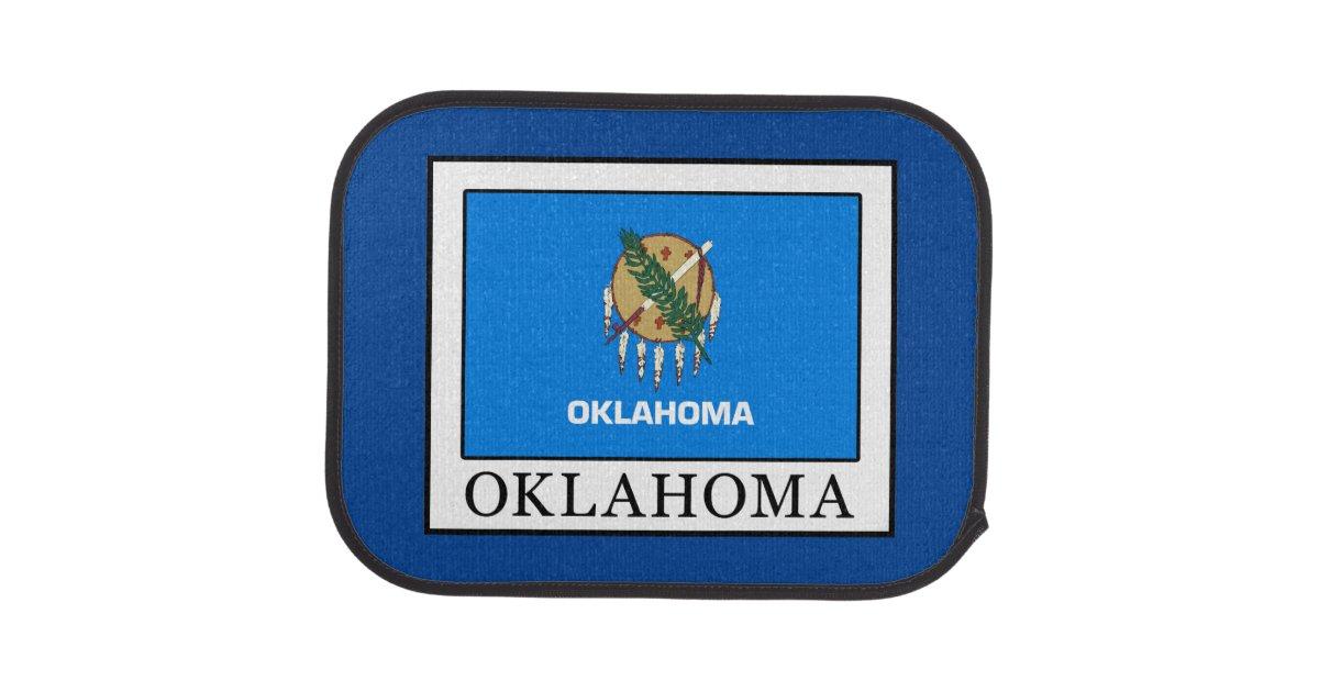 Oklahoma car floor mat zazzle for Parquet mat ou satine