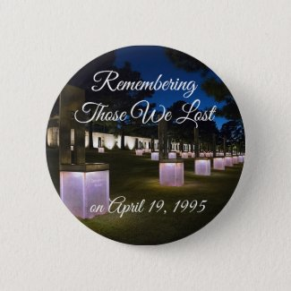 Oklahoma City Bombing Remembrance Button