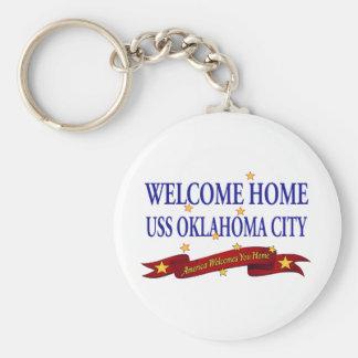 Oklahoma City casero agradable de USS Llavero Redondo Tipo Pin