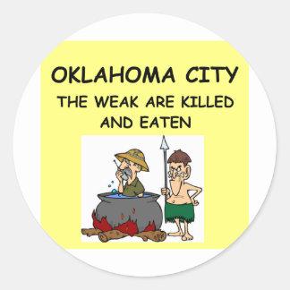 OKLAHOMA city Classic Round Sticker