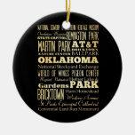 Oklahoma City del arte de la tipografía del estado Ornamento De Reyes Magos