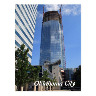 Oklahoma City, Devon Tower Construction Postcard