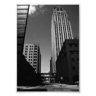 Oklahoma City en el centro de la ciudad abandonado Arte Fotográfico