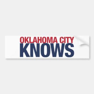 Oklahoma City Knows Bumper Sticker