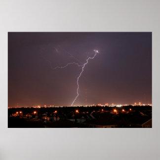 Oklahoma City Lightning Photo Poster