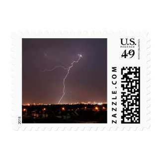 Oklahoma City Lightning Postage Stamps