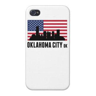 Oklahoma City OK American Flag iPhone 4 Cases