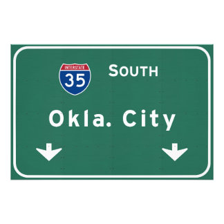 Oklahoma City ok Interstate Highway Freeway : Photo Print