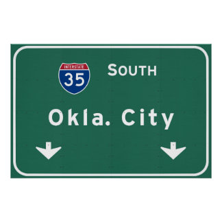 Oklahoma City ok Interstate Highway Freeway : Poster