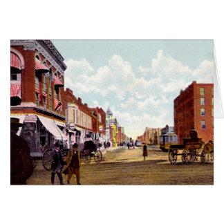 Oklahoma City, Oklahoma Broadway looking North Card