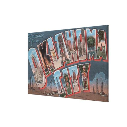 Oklahoma City, Oklahoma (Oil Fields) Canvas Print