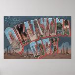 Oklahoma City, Oklahoma (Oil Fields) Poster