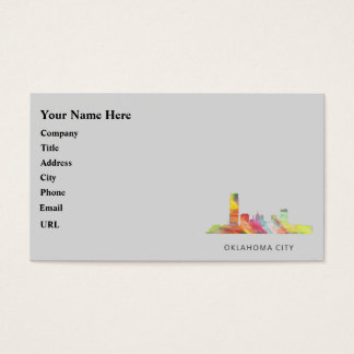 OKLAHOMA CITY, OKLAHOMA SKYLINE WB1 BUSINESS CARD