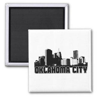 Oklahoma City Skyline 2 Inch Square Magnet