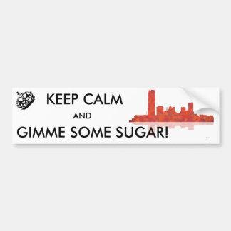 Oklahoma City Skyline Car Bumper Sticker