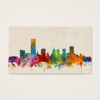 Oklahoma City Skyline Cityscape Business Card