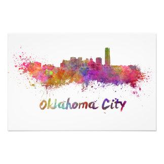 Oklahoma City skyline in watercolor Fotografías