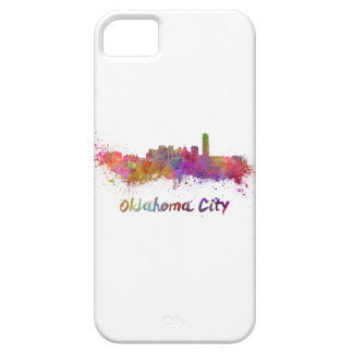 Oklahoma City skyline in watercolor iPhone SE/5/5s Case