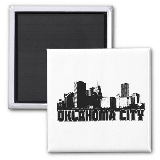 Oklahoma City Skyline Magnet