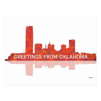 OKLAHOMA CITY SKYLINE - Postcard