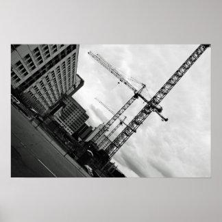 Oklahoma City Skyscraper Construction Poster
