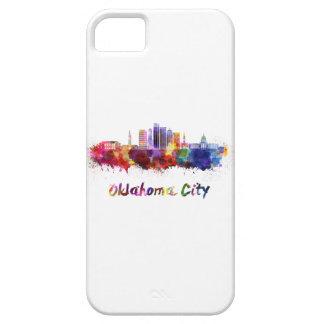 Oklahoma City V2 skyline in watercolor iPhone SE/5/5s Case