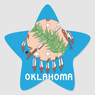 Oklahoma collectors flag star sticker