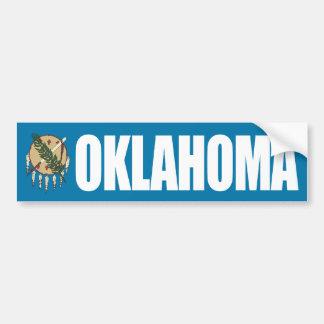 Oklahoma con la bandera del estado etiqueta de parachoque