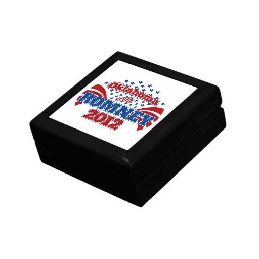 Oklahoma con Romney 2012 Cajas De Joyas