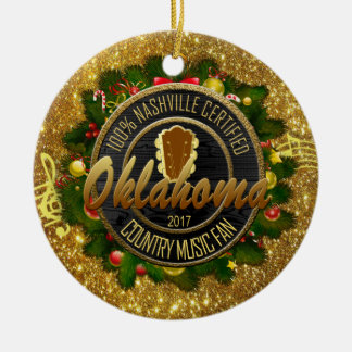 Oklahoma Country Music Fan Christmas Ornament