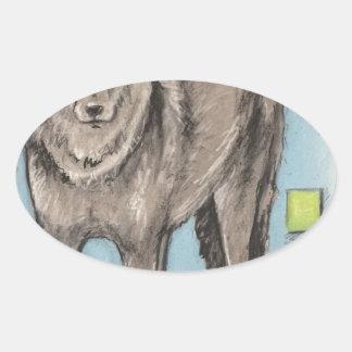 Oklahoma Coyote Oval Sticker