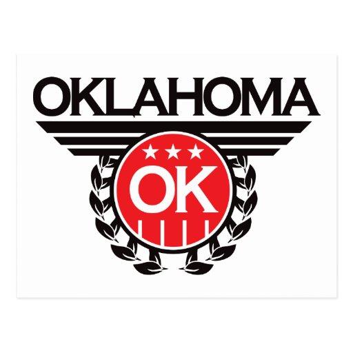Oklahoma Crest Design Post Card
