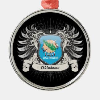 Oklahoma Crest Metal Ornament