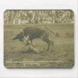 Oklahoma Culy bulldogging. Alfombrillas De Raton