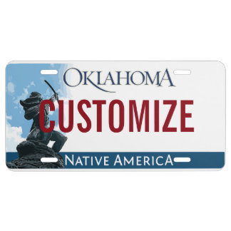 Oklahoma Custom License Plate