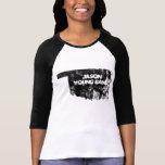 Oklahoma descolorada 3/4 banda de los jóvenes de camisetas