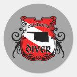 Oklahoma Diver Round Sticker