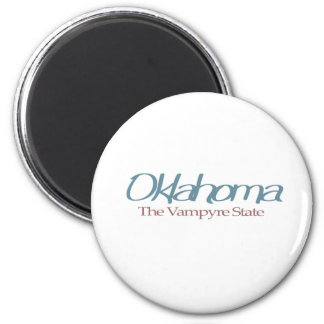 """Oklahoma """"el estado de Vampyre """" Imán Redondo 5 Cm"""