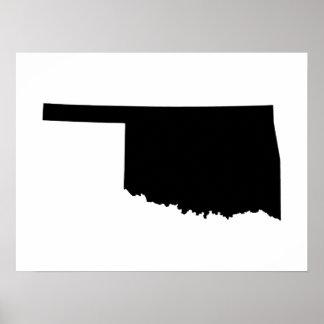 Oklahoma en blanco y negro poster